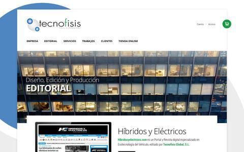 Screenshot of Home Page tecnofisis.com - Tecnofisis Global | Editorial - captured Oct. 6, 2014