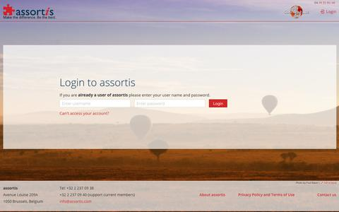 Screenshot of Login Page assortis.com - Login to assortis - captured Nov. 6, 2018