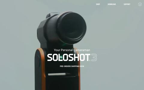 Screenshot of Home Page soloshot.com - SOLOSHOT® Robot Cameraman‎ - captured Nov. 5, 2017