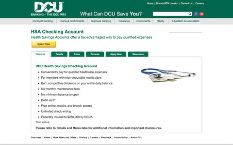 Health Savings Checking Account (HSA) | DCU | MA | NH