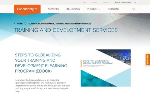 Training and Development Services