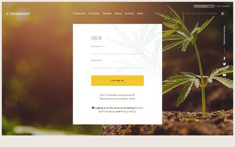 Screenshot of Login Page kannaway.com - Log in - Kannaway - captured July 13, 2019