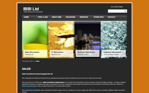 Screenshot of Team Page ibbi-ltd.co.uk - Sales Recruitment Professionals | Building Products Jobs | Building Products | KBB Sales recruitment jobs | IBBI Ltd - captured Sept. 30, 2014