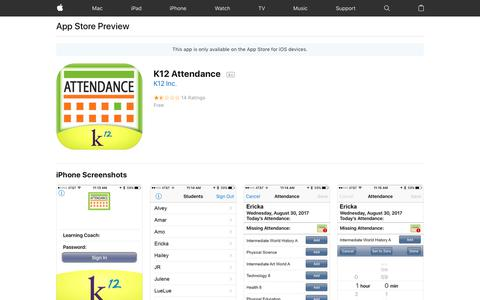 K12 Attendance on the AppStore