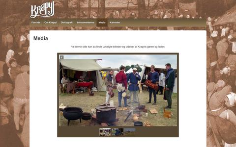 Screenshot of Press Page krapyl.info - Media | Krapyl – Middelaldermusik - captured Sept. 26, 2014
