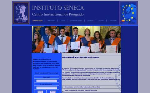 Screenshot of Home Page instituto-seneca.edu - INSTITUTO SENECA - CENTRO INTERNACIONAL DE POSTGRADO - captured Sept. 24, 2014