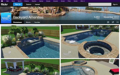 Screenshot of Flickr Page flickr.com - Flickr: Backyard Amenities' Photostream - captured Oct. 26, 2014