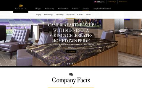 Screenshot of Press Page cambriacanada.com - Press Room | Cambria Quartz Stone Surfaces - captured Nov. 4, 2016
