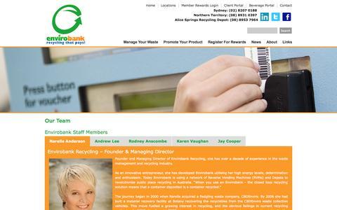 Screenshot of Team Page envirobank.com.au - Our Team   Envirobank - captured Nov. 2, 2014