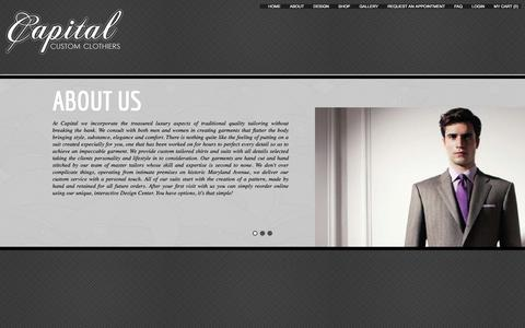 Screenshot of About Page capitalcustomclothiers.com - Capaital Custom Clothiers - captured Sept. 27, 2014