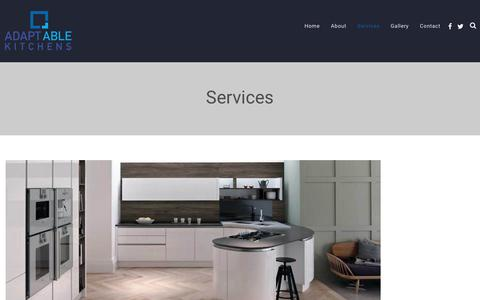 Screenshot of Services Page adaptablekitchens.ie - Services – Adaptable Kitchens - captured July 29, 2018