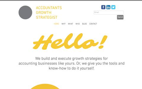 Screenshot of Home Page growthstrategist.biz - Accountants Growth Strategist - captured Oct. 7, 2017