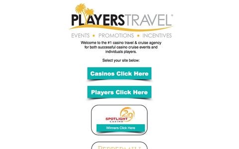 Screenshot of Home Page playerstravel.com - Players Travel - captured May 19, 2017