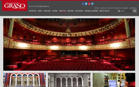 Screenshot of About Page grandtheatre.co.uk - About Us - captured Nov. 4, 2014