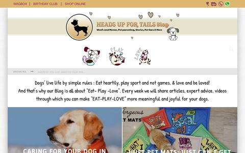 Screenshot of Blog headsupfortails.com - Dog Blog India - Dog Articles, Pet Related Stories | Headsupfortails.com - captured Dec. 8, 2015
