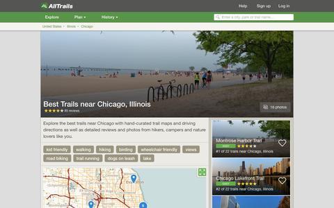 Screenshot of alltrails.com - Best Trails near Chicago, Illinois  | AllTrails.com - captured March 5, 2017