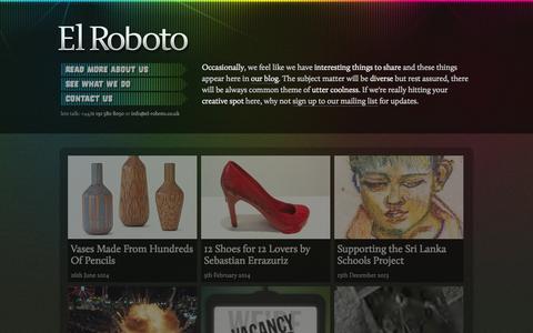 Screenshot of Blog el-roboto.co.uk - El Roboto | Blog - captured Oct. 2, 2014