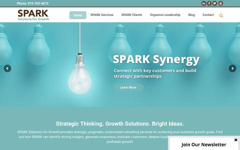 Screenshot of Home Page sparksolutionsforgrowth.com - SPARK Solutions for Growth - Growth Strategies Consultancy - captured July 26, 2018