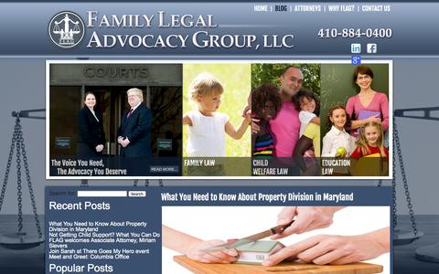 Screenshot of Blog flagfamilylaw.com - Experienced Family & Divorce Attorney in Towson, Columbia – Family Legal Advocacy Group, LLC - captured Nov. 3, 2014