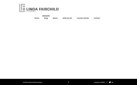 Screenshot of Blog lindafairchild.com - Linda Fairchild | Business Development Consulting | San Francisco | blog - captured Oct. 16, 2018