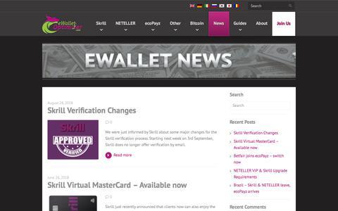 Screenshot of Press Page ewallet-optimizer.com - eWallet-Optimizer • eWallet News - captured Sept. 23, 2018