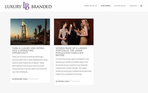 Screenshot of Case Studies Page luxurybranded.com - Case Studies Archives - Luxury Branded - captured Feb. 24, 2020