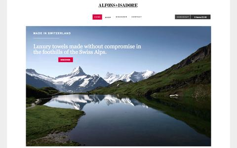 Screenshot of Home Page alfonsisadore.com - Alfons & Isadore - Alfons & Isadore - captured Oct. 4, 2014