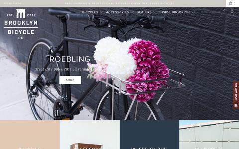 Screenshot of Home Page brooklynbicycleco.com - City Bikes & Dutch Bikes | Brooklyn Bicycle Co. - captured June 2, 2017