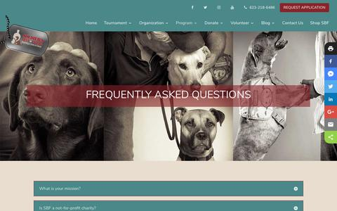 Screenshot of FAQ Page soldiersbestfriend.org - Frequently Asked Questions | Soldier's Best Friend - captured Oct. 20, 2018