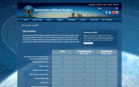 Screenshot of Signup Page astronomerswithoutborders.org - Join AWB - captured Sept. 30, 2014