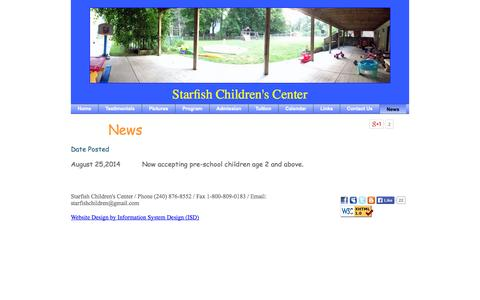 Screenshot of Press Page starfishchildrenscenter.com - Inhome Daycare Learning Center for Rockville MD, Bethesda MD & nearby areas - captured Sept. 30, 2014