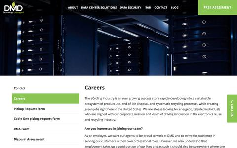 Screenshot of Jobs Page dmdsystems.com - DMD Solutions - captured Jan. 2, 2017