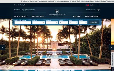 Screenshot of Home Page lhw.com - Luxury Hotels and Resorts : Leading Hotels of the World - captured Oct. 9, 2017