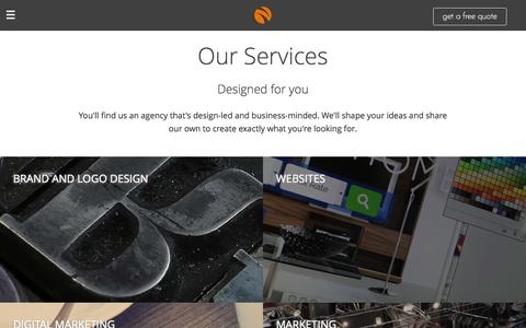 Screenshot of Services Page streeten.co.uk - Services - captured Feb. 26, 2016