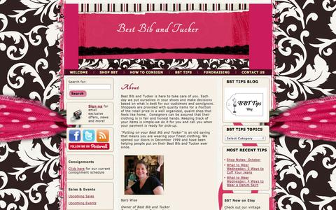 Screenshot of About Page shopbestbibandtucker.com - About - captured Oct. 5, 2014