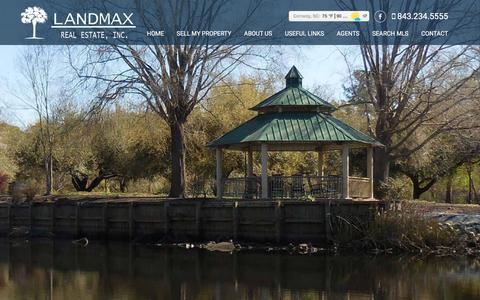 Screenshot of Home Page landmaxrealestate.com - Home - LandMax Real Estate - captured July 2, 2018