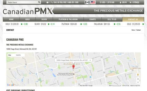 Screenshot of Contact Page canadianpmx.com - Contact | Canadian PMX - captured May 13, 2017