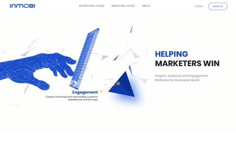 Screenshot of Home Page inmobi.com - InMobi | Global provider of cloud based intelligent mobile platforms for enterprise marketers - captured June 28, 2018