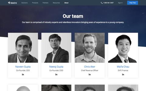 Screenshot of Team Page birdeye.com - Meet with BirdEye Management Team, Board, Advisors, Investors | BirdEye - captured June 20, 2018