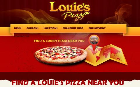 Screenshot of Locations Page louiespizzapie.com - Louie's Pizza Pie Locations   Metro Detroit Pizzeria   - captured Feb. 1, 2016