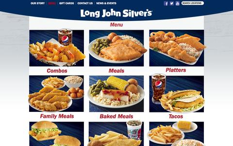 Screenshot of Menu Page ljsilvers.com - Seafood Special Surf and Turf Dinner | Fish Dinner - captured Dec. 1, 2015