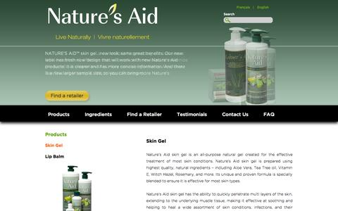 Screenshot of Products Page naturesaid.ca - Nature's Aid - captured Nov. 4, 2014