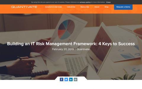 Screenshot of Team Page quantivate.com - Building an IT Risk Management Framework: 4 Keys to Success | Quantivate - captured Dec. 3, 2019