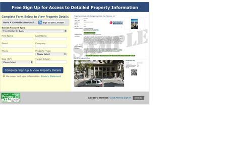 Screenshot of Signup Page buildingsearch.com - Sign Up - captured Sept. 11, 2014