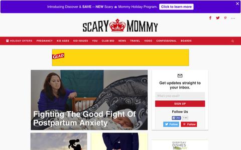 Screenshot of Home Page scarymommy.com - Scary Mommy – A parenting website for imperfect parents Scary Mommy - captured Dec. 2, 2015