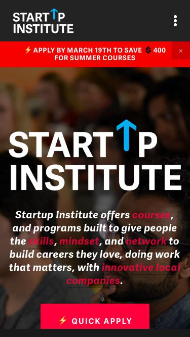 Startup Institute | Courses for Coding, Marketing, Web Design and Sales in Boston.