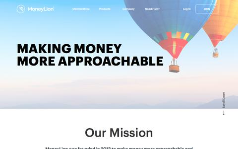 Screenshot of About Page moneylion.com - Making Money More Approachable | MoneyLion - captured July 23, 2019