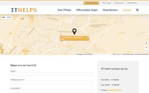 Screenshot of Contact Page ithelps.nl - Contact – Mijn blog - captured Oct. 14, 2017