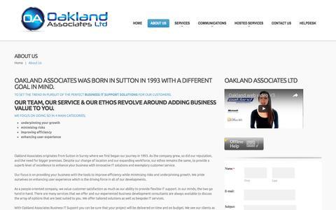 Screenshot of About Page oaklandassociates.co.uk - About Us  |  Oakland Associates – Business IT Support - captured Dec. 2, 2016
