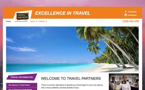 Screenshot of Signup Page travelpartners.com.au - Home Page - Join Travel Partners - captured Dec. 13, 2016